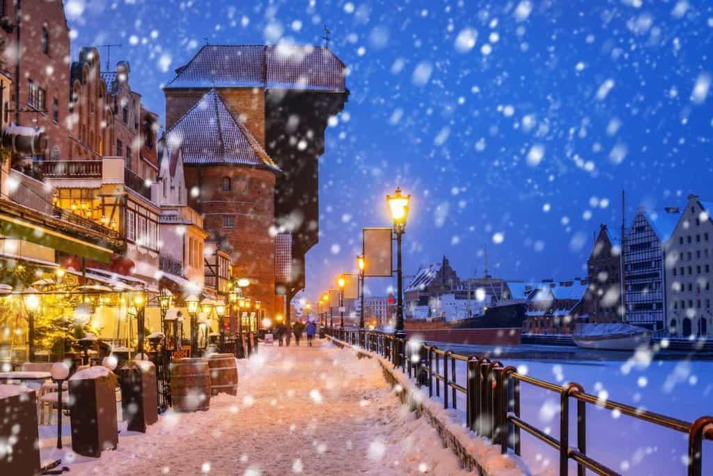 Zima, Gdańsk, klimat, Polska